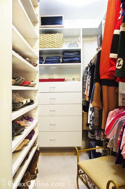 Adjustable Closet Shoe Shelves, Closet Shoe Shelves And Open Shelves
