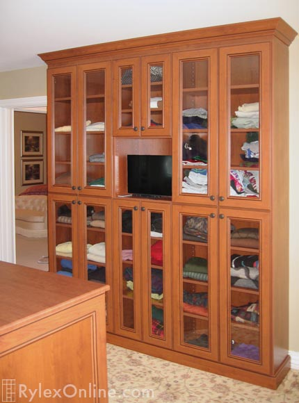Master Closet Cabinet with TV
