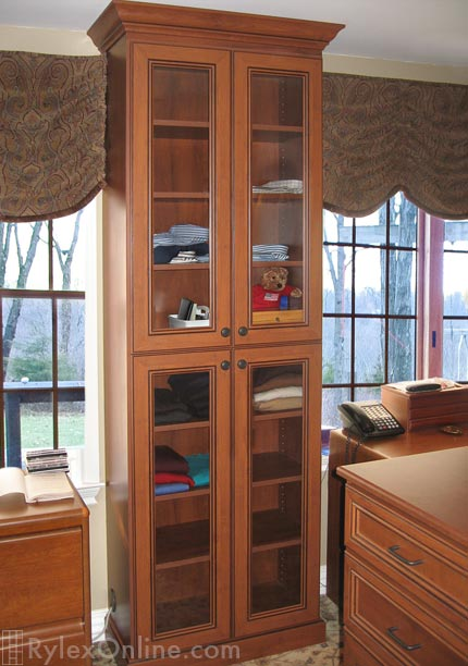 Closet Cabinet with Glass Door Inserts