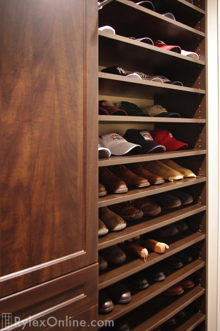 Men S Walk In Closet Adjustable Shoe Shelves Warwick Ny