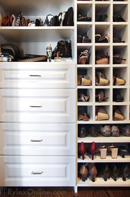 Closet Shoe Cubbie Shelves And Cubbies