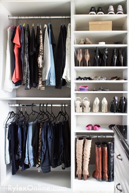 Dressing Room Sophisticated Master Closet New Paltz Ny