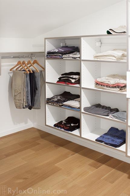 Contemporary Teen Closet With Open Shelves ...