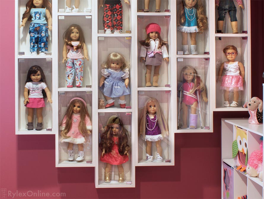 Beau American Girl® Doll Display Case, Doll Collector Wall Mounted Cases