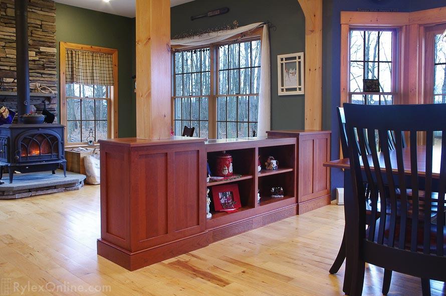 Open Shelf Room Divider