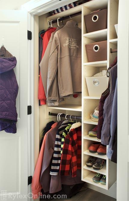 Coat Closet Modena Ny Rylex Custom Cabinetry