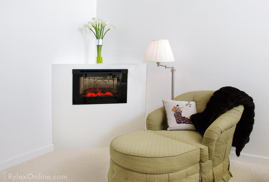 Corner Electric Fireplace Cabinet