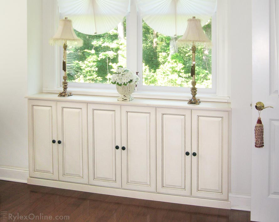 Collectible Cabinet, Custom Built Window Cabinet