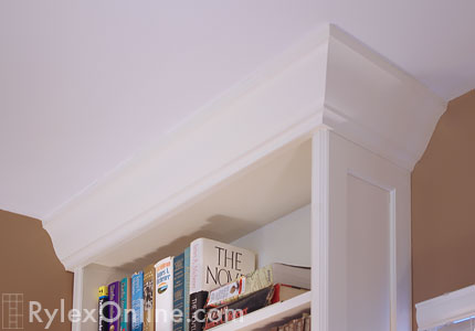 Crown Moulding on Bookcase