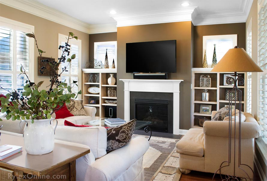 Fireplace Surround Shelves