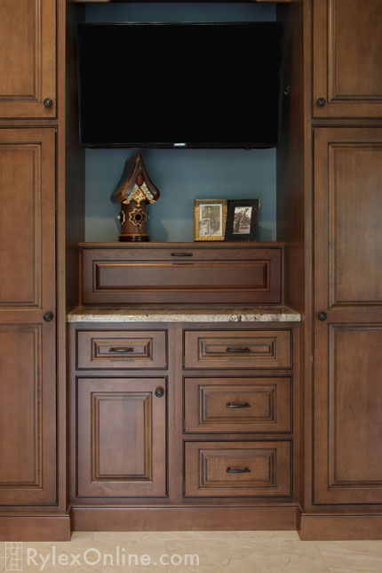 Small Cabinet Matches Larger Existing Cabinetry