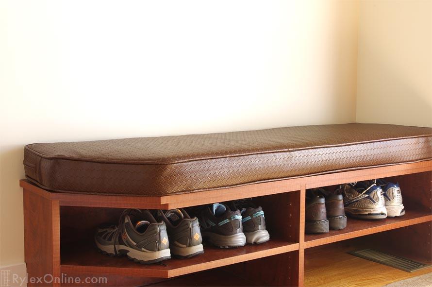 Cushioned Shoe Storage Bench ...