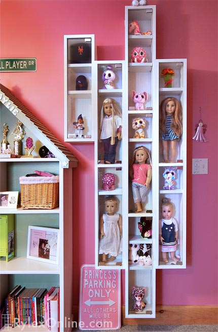 Doll Collection Wall Mounted Display Cases ...
