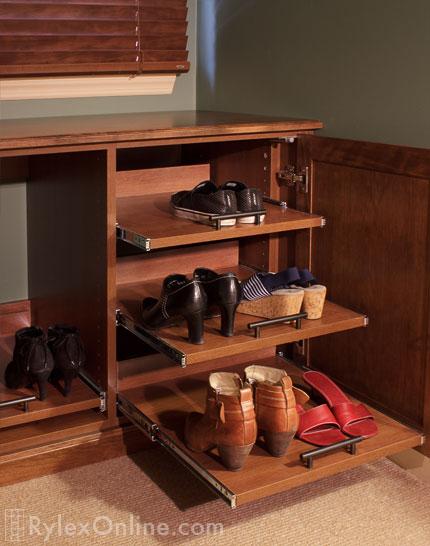 Sliding Shoe Shelves, Shoe Storage Cabinet