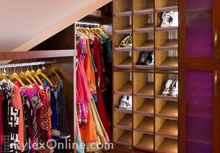Lighted Shoe Cubbie Shelves, Shoe Cubbies With Low Voltage Lighting
