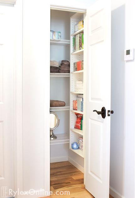 Adjustable Linen Closet Shelving Yorktown Organizing