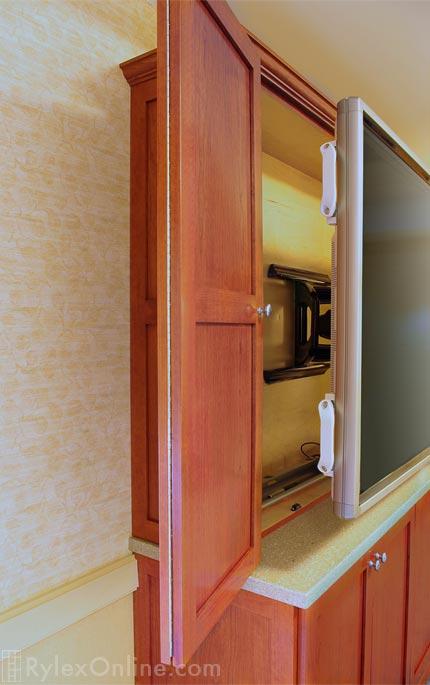 Smartboard Slim Profile Cabinet, Locking Slim Profile TV Cabinet
