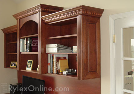 Executive Home Office Desk With Crown Moulding