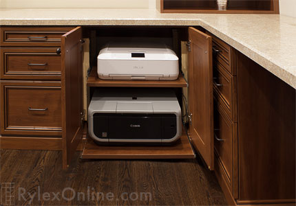Pull Out Printer Shelf Sliding Office Printer Cabinet