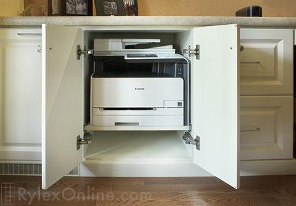 Pull Out Printer Shelf Office Printer Shelf Orange