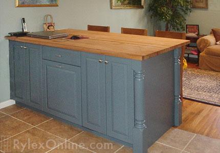 Kitchen island goshen ny yorktown rylex custom for Kitchen cabinets yorktown ny