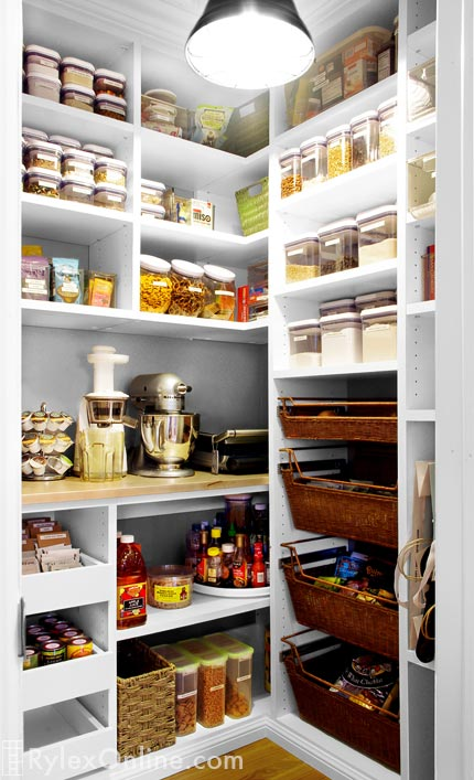 Kitchen Pantry Adjustable Melamine Shelving Sliding