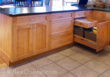 Kitchen Recycle Pullout Cabinet, Pullout Recycle Kitchen Cabinet