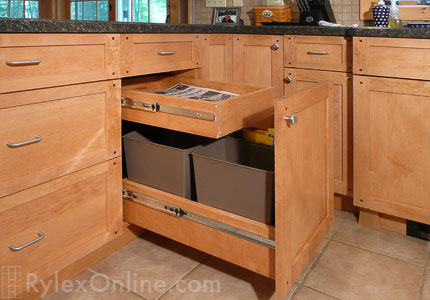 Kitchen Recycling Pullout | Trash Cabinets | Orange County, NY