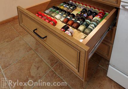 Compact kitchen transform efficiency warwick ny kitchen spice drawer organizer built in workwithnaturefo