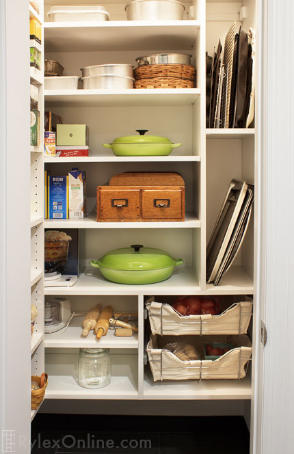 Pantry with Depth of Shelves for Appliances