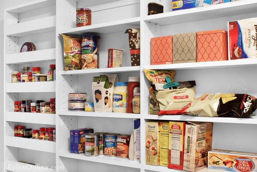 Organized Food Storage Pantry Closet ...
