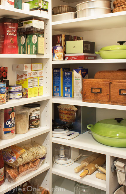 ... Organized Pantry With Adjustable Shelves