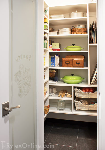 Pantry with Fully Adjustable Shelves