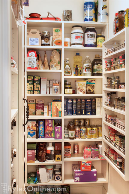 Pantry With Full Spice Rack