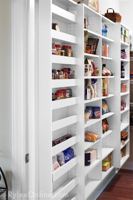 Basement Pantry For Narrow Depths, Shallow Pantry Shelves Of Varying Depths