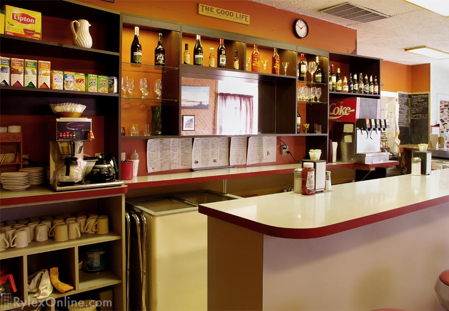 Restaurant Melamine Cabinet Display Storage