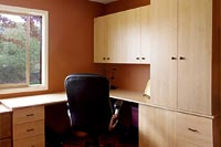 Corner Home Office with Storage Cabinet