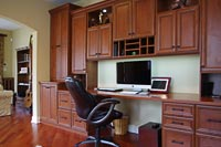 Built-In Home Office with Cabinets