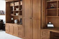 Dual Home Offices with Storage Cabinet