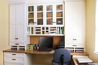 Home Office with Seeded Glass Inserts